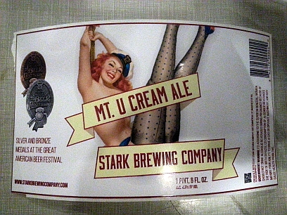 Image result for Stark Brewing's Mt. U Golden Cream Ale
